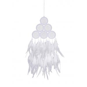 Feathers Fringed Handmade Dream Catcher Wall Hanging -