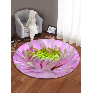 Flower Pattern Anti-skid Round Floor Rug -