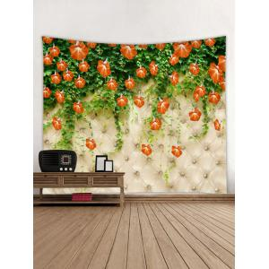 Flower Vine Printed Wall Tapestry Hanging Decoration -