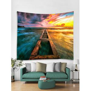 Sunset Sea Printed Wall Tapestry Hanging Decoration -