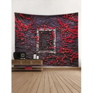 Vintage Flower Window Print Wall Tapestry Hanging Decor -