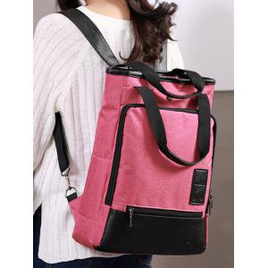 Casual Panel Multi Functions Backpack -