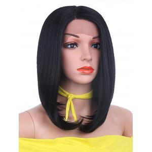 Medium Side Parting Straight Bob Lace Front Synthetic Wig -