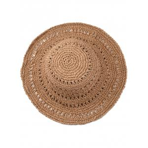 Vintage Hollow Out Foldable Straw Hat -
