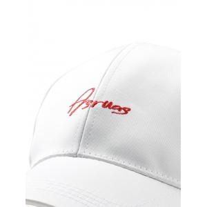 Letter Embroidery Fully Adjustable Baseball Cap -