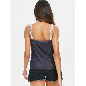 Button Up Sequined Tank Top -
