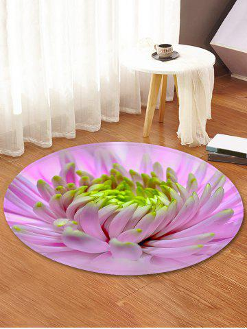 Discount Flower Pattern Anti-skid Round Floor Rug