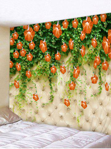 Best Flower Vine Printed Wall Tapestry Hanging Decoration