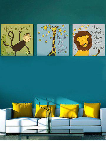 Affordable Cartoon Animals Print Unframed Split Canvas Paintings