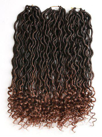 Affordable Gradient Curly Crochet Dreadlock Braids Hair Extensions