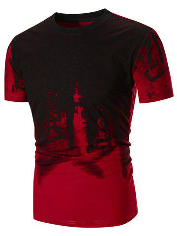 Discount Abstract Ink Painting Printed T-shirt