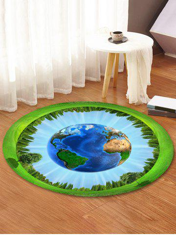 New Earth Forest Pattern Anti-skid Round Floor Rug