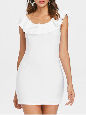 Outfit Flounce Trim Back Cut Out Bodycon Dress