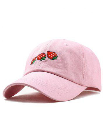 Outfit Cute Strawberry Embroidery Baseball Cap