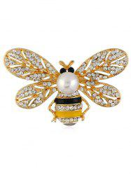 Broche Décorative Abeille en Strass -