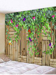 Flower Vine Butterfly Printed Wall Tapestry Hanging Decoration -