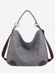 Color Block Canvas Minimalist Handbag -
