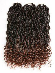 Gradient Curly Crochet Dreadlock Braids Hair Extensions -