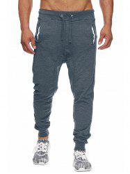 Drawstring Elastic Waist Four-pocket Jogger Pants -