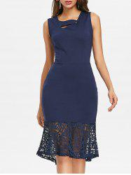 Lace Insert Mermaid Dress -