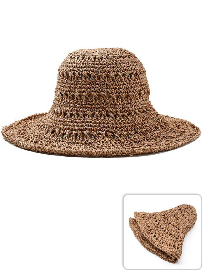 Store Vintage Hollow Out Foldable Straw Hat
