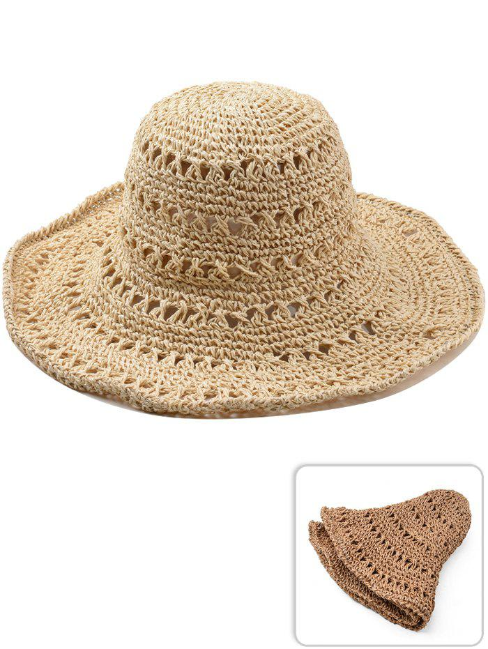 Chic Vintage Hollow Out Foldable Straw Hat