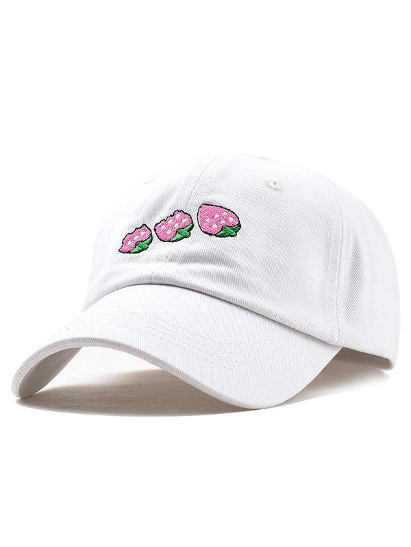 Shops Cute Strawberry Embroidery Baseball Cap