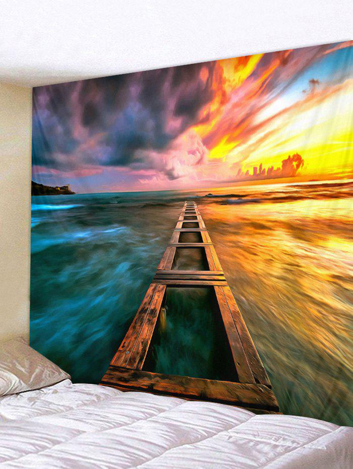 Hot Sunset Sea Printed Wall Tapestry Hanging Decoration