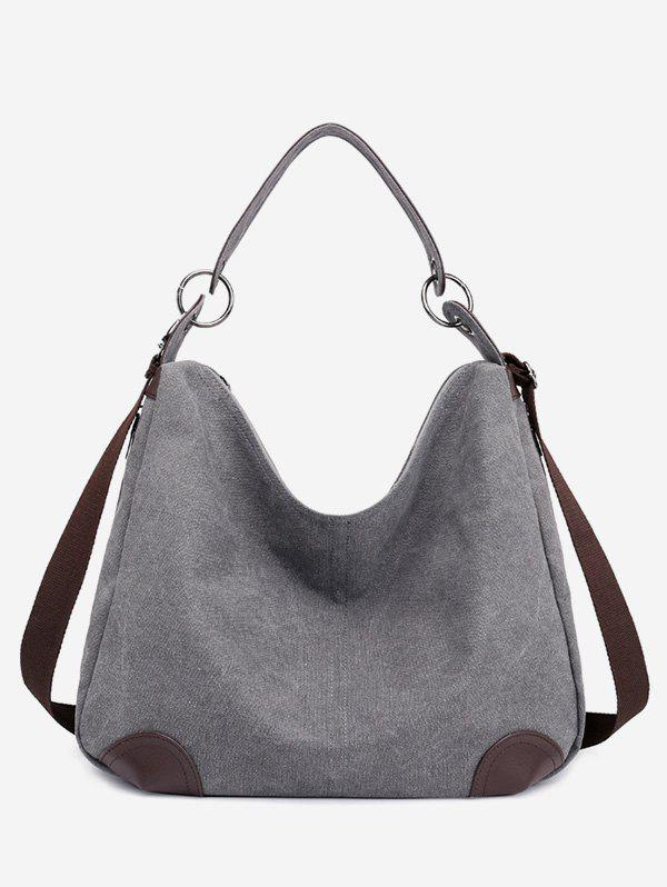 Fancy Color Block Canvas Minimalist Handbag
