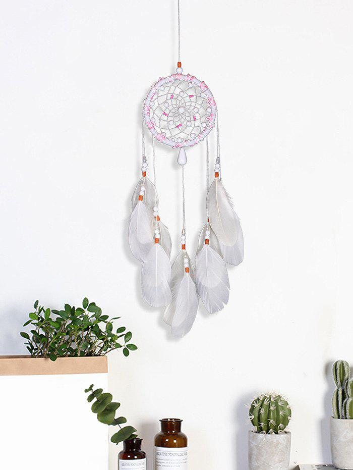 Fashion Feathers Beads Handmade Dream Catcher Wall Hanging