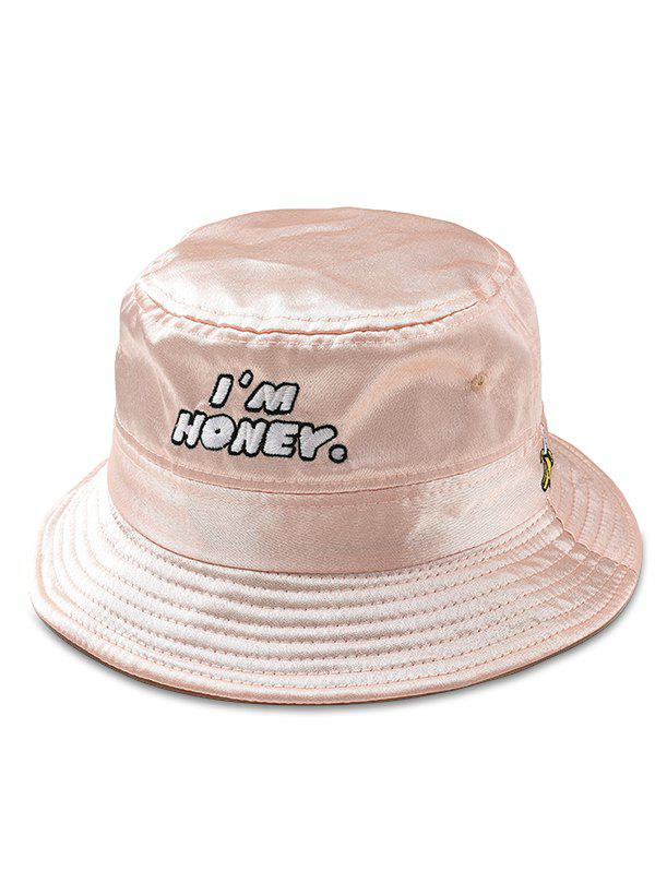 Shops I am Honey Embroidery Glossy Fisherman Hat