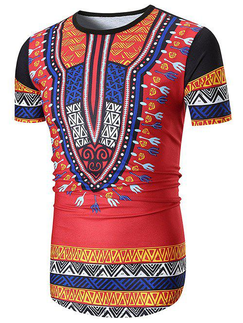 Best Ethnic Style Hem Curved Casual Longline T-shirt