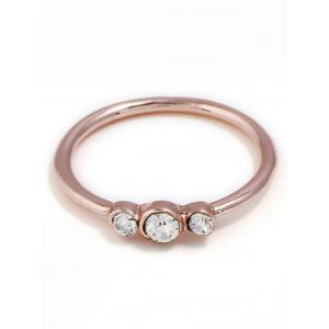 Rhinestone Decorated Alloy Ring -