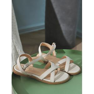 Cross Strap Leisure Beach Ankle Wrap Sandals -