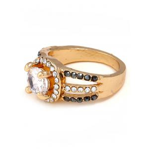 Rhinestone Decoration Hollow out Ring -