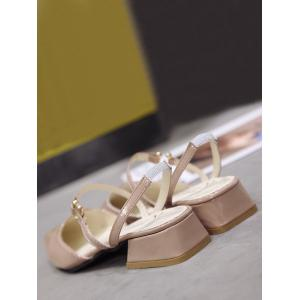 Low Heel Elastic Band Pointed Toe Leisure Sandals -