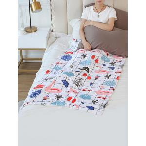 Flamingo Plaid Starfish Print Flannel Soft Bed Blanket -