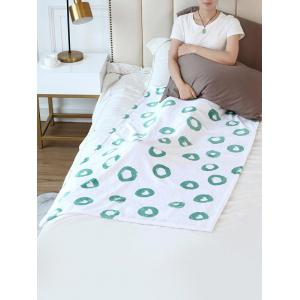 Geometric Round Flannel Soft Bed Blanket -