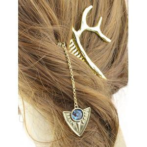 Faux Gemstone Chain Hair Stick -