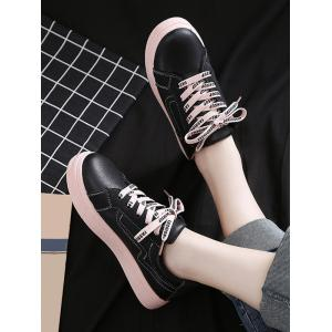 Lightweight Color Block Letter Leisure Sneakers -