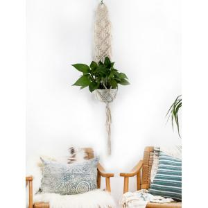 Pot Holder Macrame Plant Hanger Rope Braided Craft -