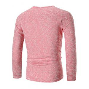 Hem Zipper Curved Long Sleeve Tee -