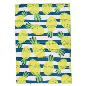 Pineapple Print Flannel Soft Bed Blanket -