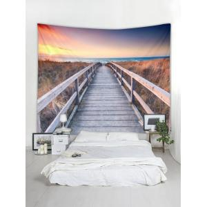 Sunset Scene Printed Wall Tapestry Hanging Decoration -
