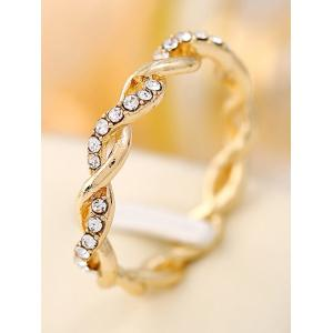 Rhinestone Decoration Twist Ring -