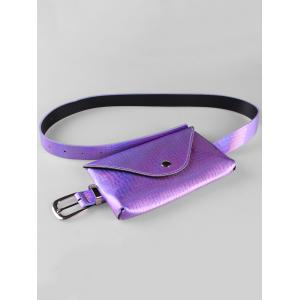 Unique Fanny Pack Faux cuir Skinny Belt Bag -