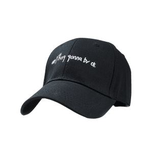 Fun Letter Sentence Embroidery Baseball Hat -
