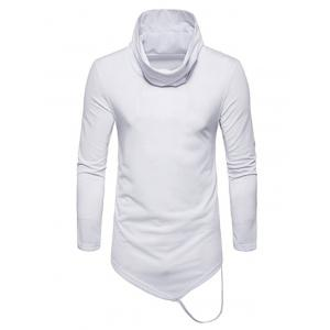 Long Sleeve String Decorated Hem Tee -