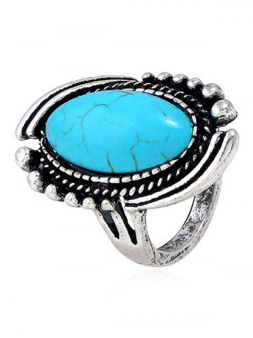 New Oval Design Artificial Gemstone Ring