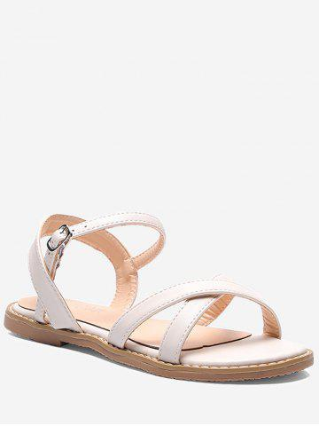 Outfits Cross Strap Leisure Beach Ankle Wrap Sandals